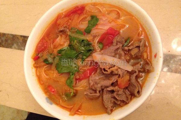 越南酸辣牛肉河粉的做法
