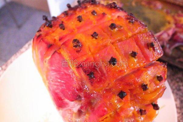 丁香蜜烤火腿肉的做法