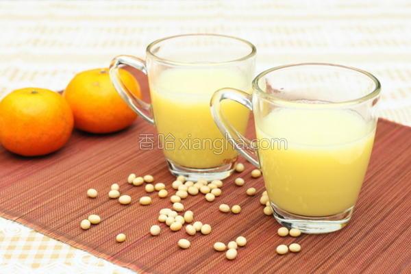 果汁豆浆的做法