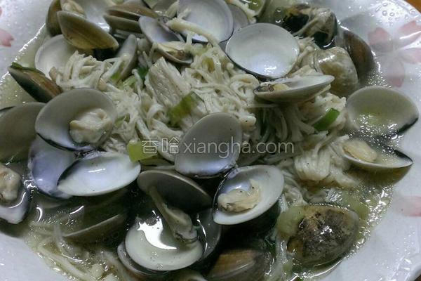 蛤蛎炒金针菇的做法