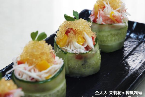 小黄瓜寿司的做法