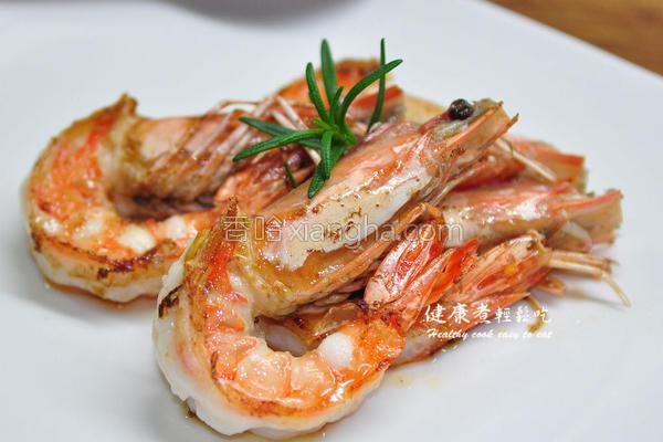 迷迭香炒虾的做法
