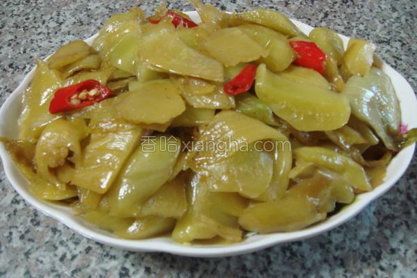 椒麻酸菜的做法