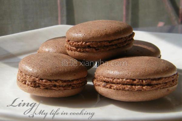 巧克力马卡龙的做法