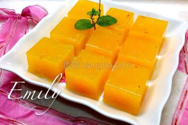 新鲜柳橙果冻的做法