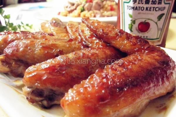 酸甜酱烧鸡翅的做法