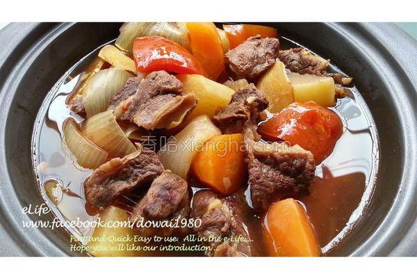 清炖番茄牛肉汤的做法
