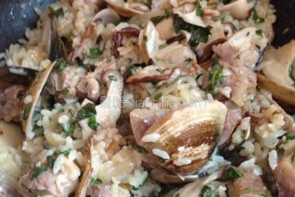 机米海陆炖饭的做法