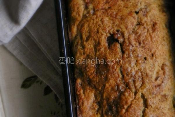 黑糖核桃香蕉蛋糕的做法