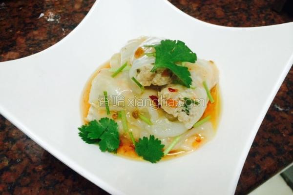 虾仁绞肉米皮卷的做法