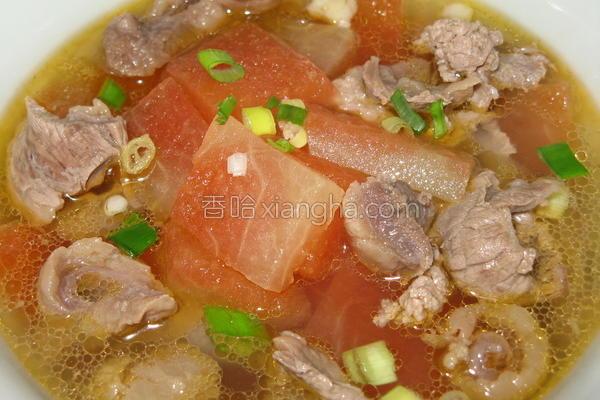 翠衣牛肉汤的做法