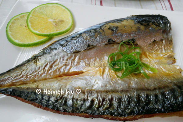 香煎薄盐鲭鱼的做法