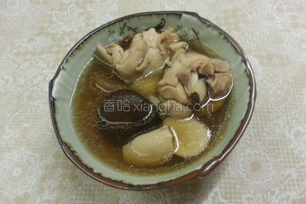 脆瓜仔香菇鸡汤的做法