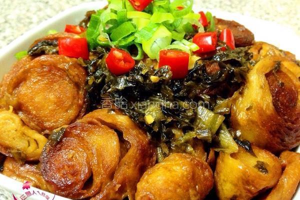 酸菜面肠的做法