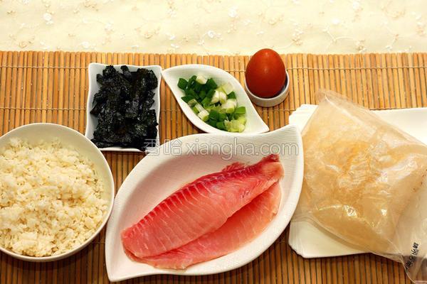 鲷鱼肉片粥的做法
