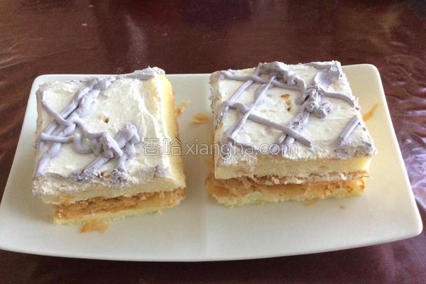 芋香酥皮蛋糕的做法