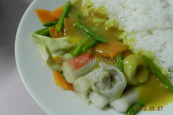 幸福鱼饺咖哩的做法