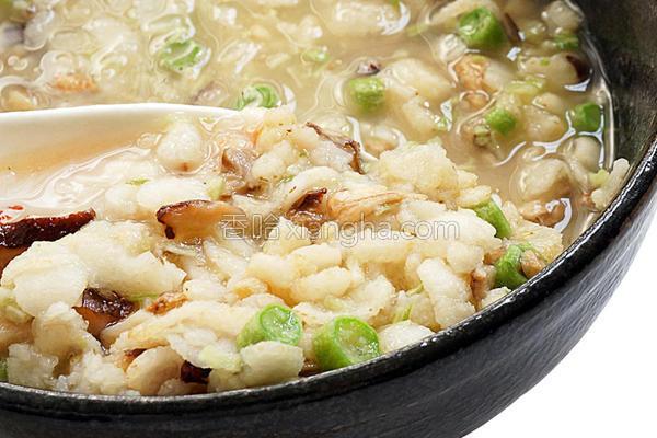 极道冬菇粥的做法