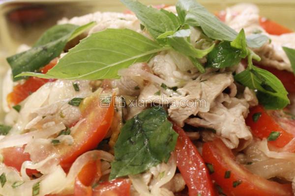 泰式凉拌猪肉片的做法