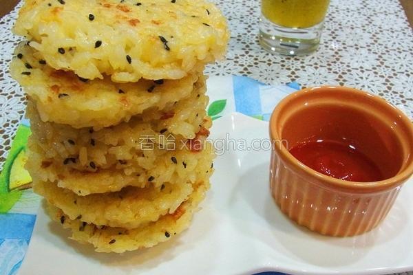 芝麻起司煎米饼的做法
