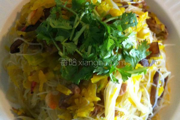 南瓜肉丝炒米粉的做法