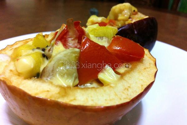 芝司乐酸甜水果盅的做法