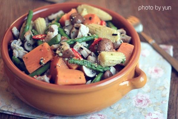 蔬食肉丝地瓜沙拉的做法