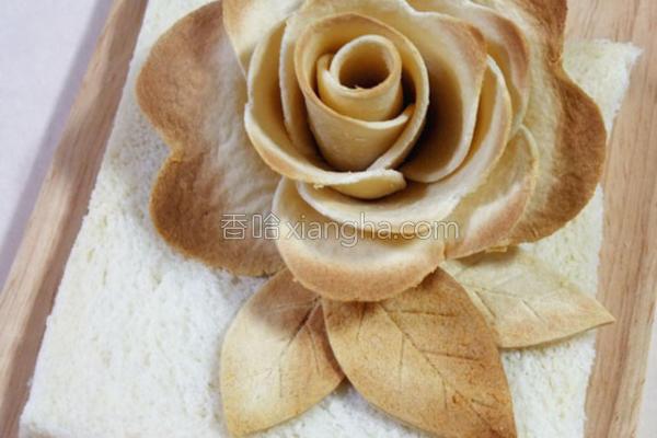 吐司玫瑰的做法