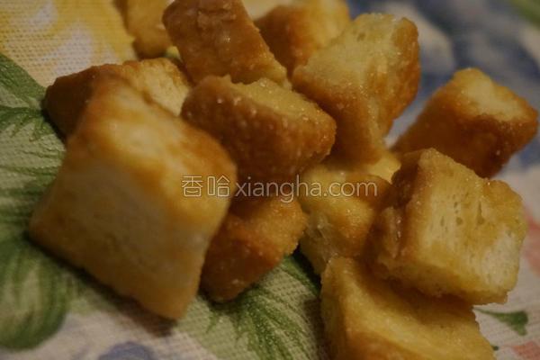 蜂蜜面包丁的做法