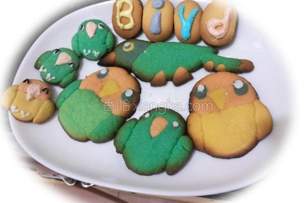 可爱鸟饼干的做法