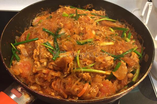 韩式炒泡菜薯粉的做法