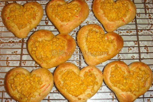 寒天玉米爱心面包的做法