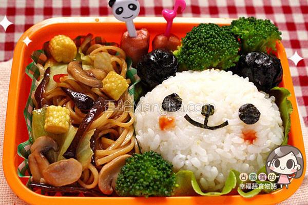 熊猫炒面便当的做法