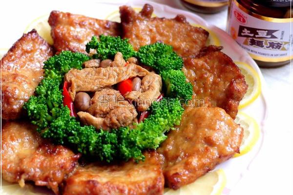 土豆面筋卤猪排的做法
