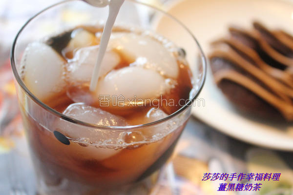 姜黑糖奶茶的做法