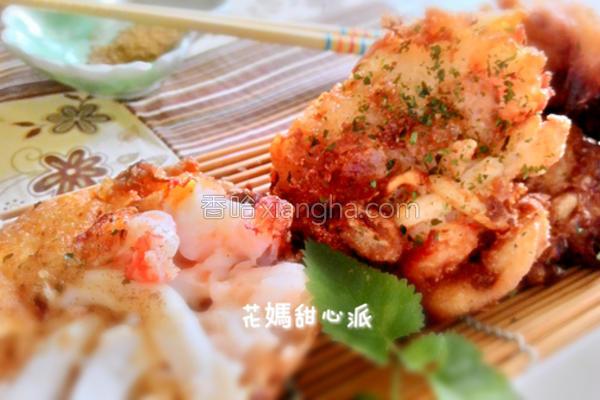 酥炸海鲜饼的做法
