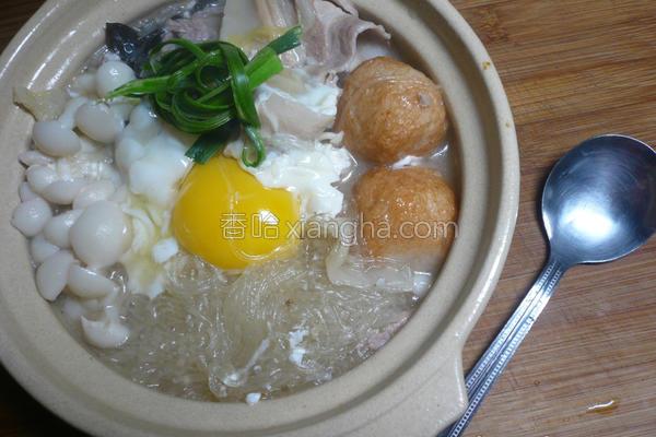 月见粉丝酸菜锅的做法