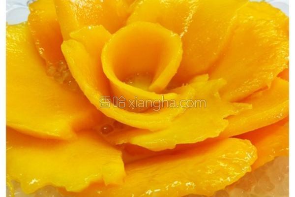 椰汁芒果西米露的做法