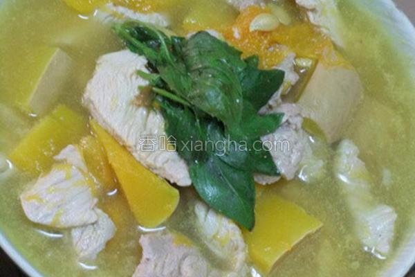 南瓜肉片汤的做法