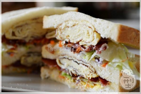 玉子烧培根三明治的做法