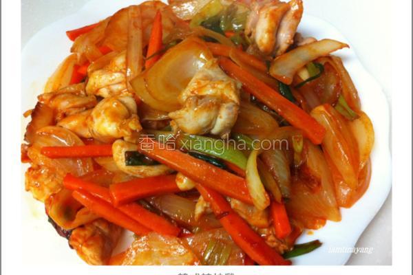 韩式辣炒鸡的做法