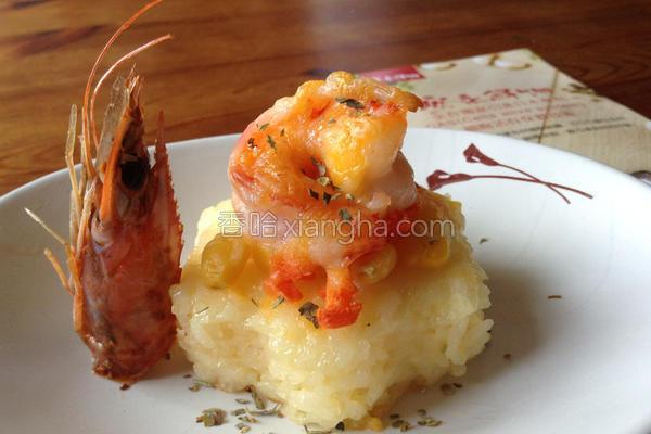 焗香虾塔安永鲜物的做法