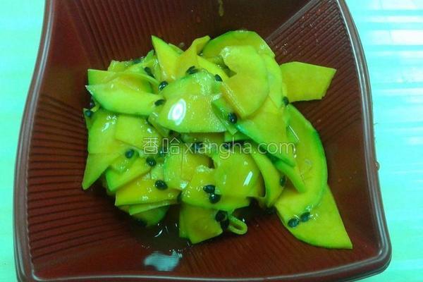 百香果渍南瓜的做法