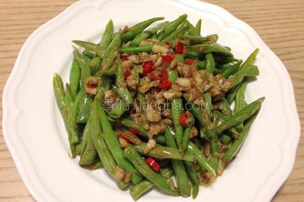 蒜香四季豆的做法