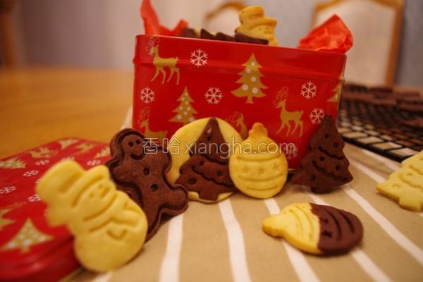 圣诞压模饼干的做法