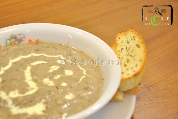 新鲜蘑菇浓汤的做法