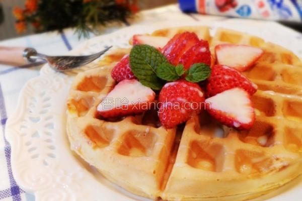 草莓炼奶美式松饼的做法