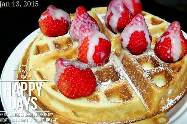 恋草莓松饼的做法