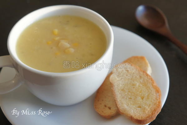 简易玉米浓汤的做法