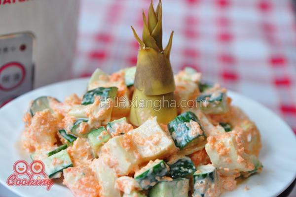 鲜虾嫩笋沙拉的做法